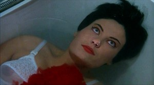 A model death: the faked suicide of Tao-Li (Claude Dantes) in Blood and Black Lace.