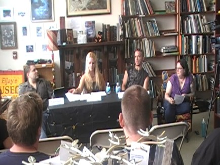 Life on Other Planets panel at Eljay's Book Store.