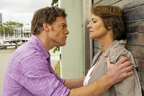 Dexter and Dr. Vogel (Charlotte Rampling) start things off on a sour note.