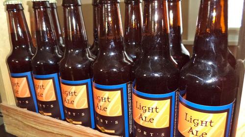 Dead Drunk's fictitious brew, Mort's Light Ale.