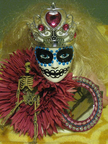 Day of the Dead Barbie Heads.
