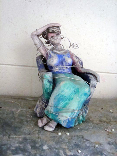 """""""Woman and Wire"""" by Mary Wright."""