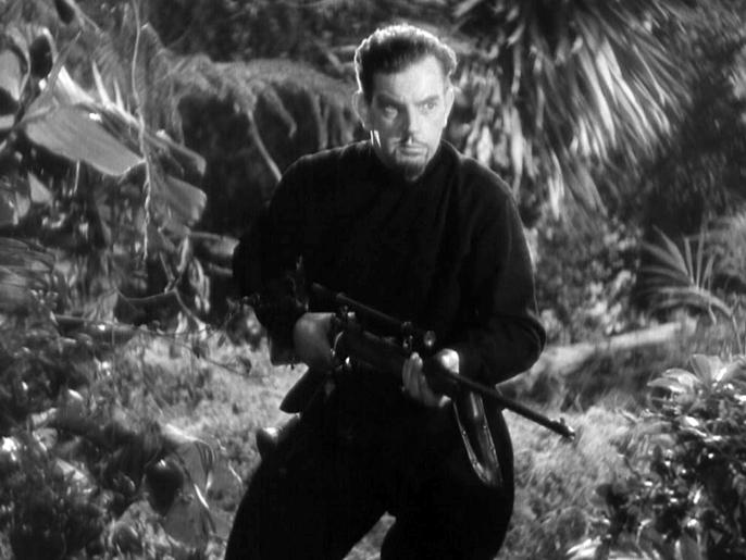 Leslie Banks as Count Zaroff.
